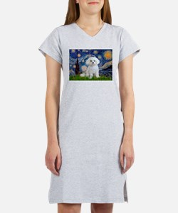 Starry / Maltese Women's Nightshirt