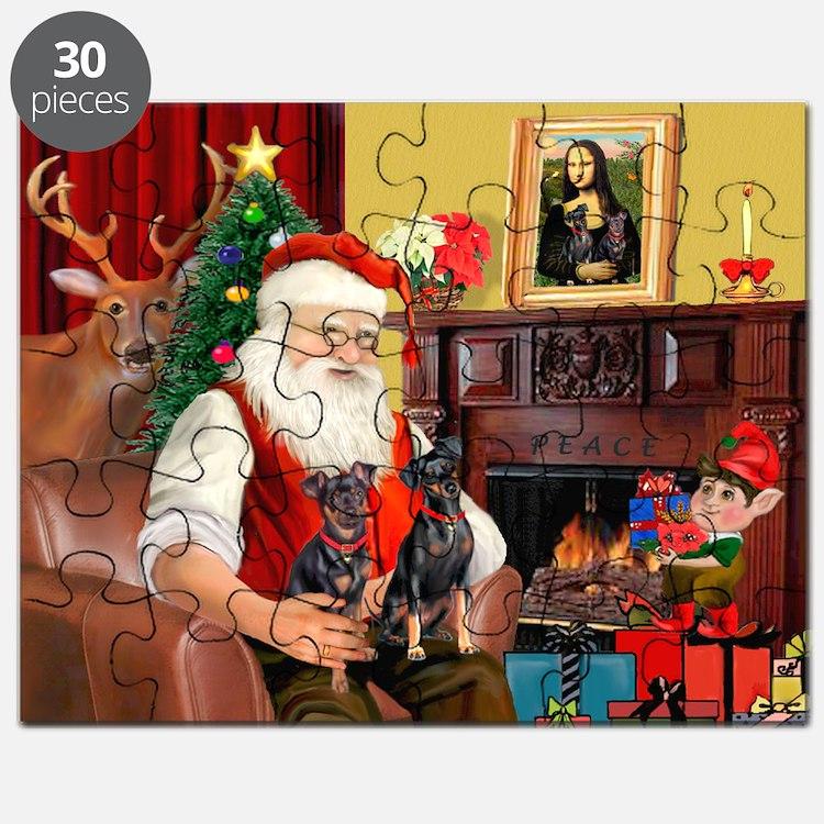 Santa's 2 Mun Pinschers Puzzle
