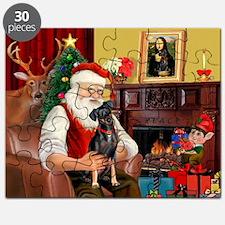 Santa'sMiniature Pinscher Puzzle