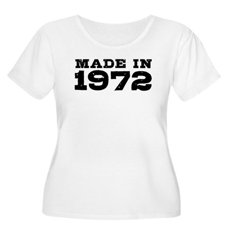 Made In 1972 Women's Plus Size Scoop Neck T-Shirt