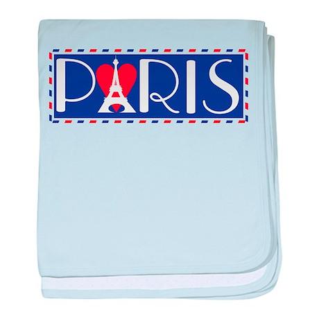 Love Paris baby blanket