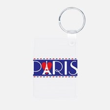 Love Paris Aluminum Photo Keychain