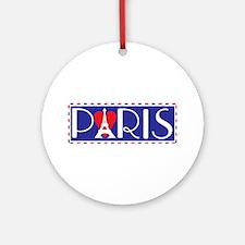 Love Paris Ornament (Round)
