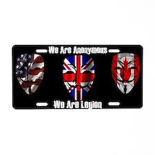 We Are Legion - Anonymous Aluminum License Plate