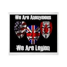We Are Legion - Anonymous Throw Blanket