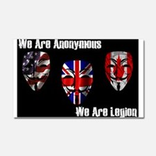 We Are Legion - Anonymous Car Magnet 20 x 12