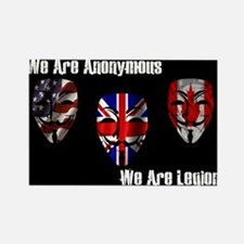 We Are Legion - Anonymous Rectangle Magnet
