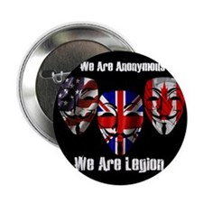 """We Are Legion - Anonymous 2.25"""" Button"""