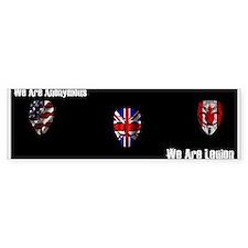 We Are Legion - Anonymous Bumper Sticker