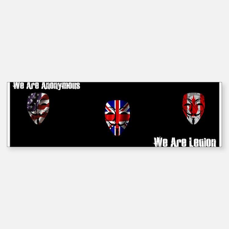 We Are Legion - Anonymous Sticker (Bumper)