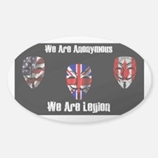 We Are Legion - Anonymous Sticker (Oval)
