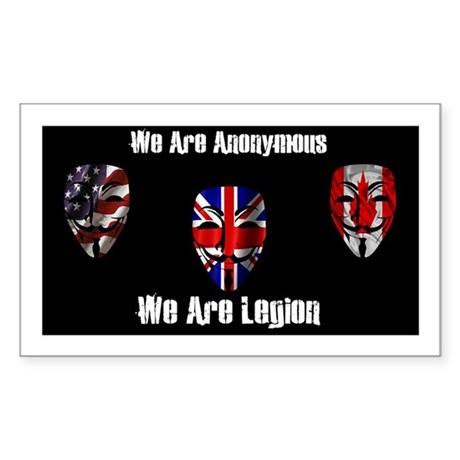We Are Legion - Anonymous Sticker (Rectangle)