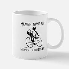 Never Give Up Biker Mug