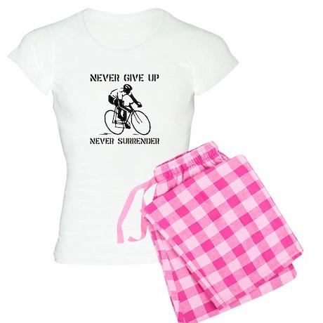 Never Give Up Biker Women's Light Pajamas