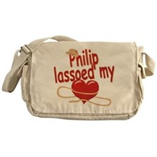 Philip Lassoed My Heart Messenger Bag