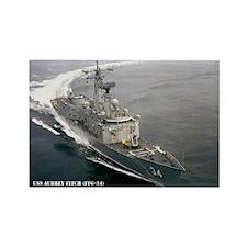 USS AUBREY FITCH Rectangle Magnet