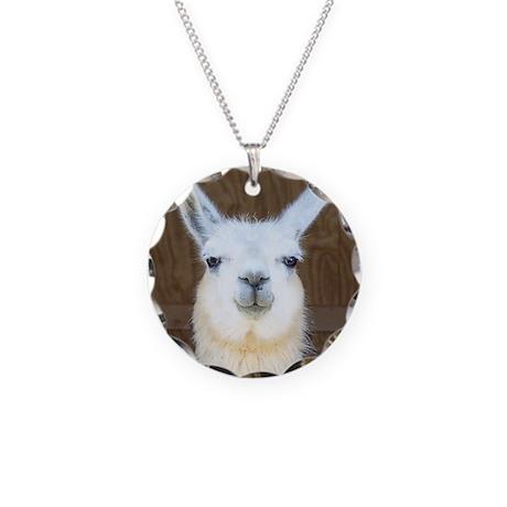 Llamas Necklace Circle Charm