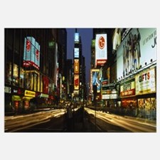 Shopping malls in a city, Times Square, Manhattan,