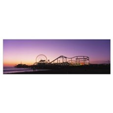 Amusement Park Santa Monica CA Canvas Art