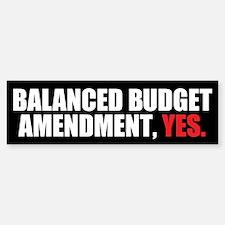 Balanced Budget Amendment Bumper Bumper Sticker