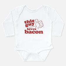 This Guy Loves Bacon Long Sleeve Infant Bodysuit