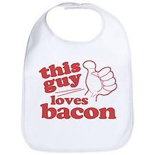 This Guy Loves Bacon Bib