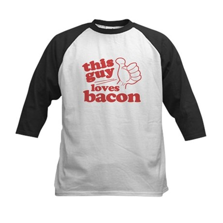 This Guy Loves Bacon Kids Baseball Jersey