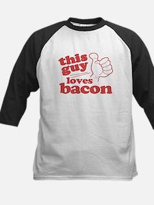 This Guy Loves Bacon Kids Baseball Jersey
