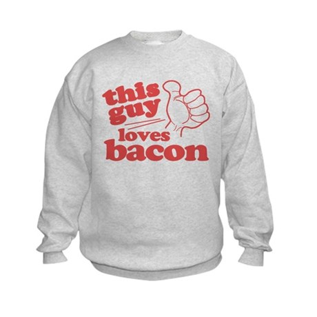 This Guy Loves Bacon Kids Sweatshirt