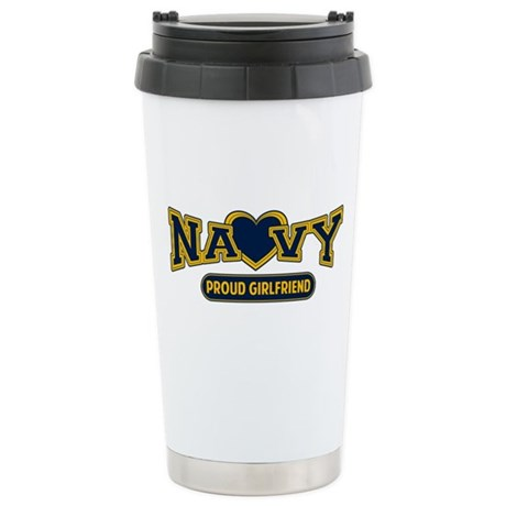 Navy Girlfriend Stainless Steel Travel Mug