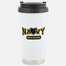Navy Girlfriend Stainless Steel Travel Mug