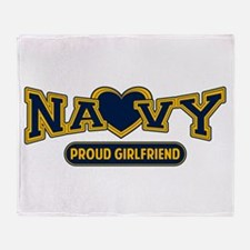 Navy Girlfriend Throw Blanket