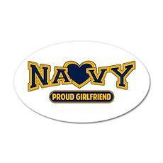 Navy Girlfriend 22x14 Oval Wall Peel