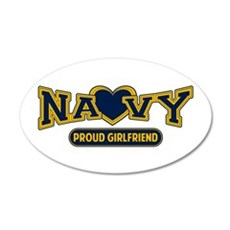 Navy Girlfriend 38.5 x 24.5 Oval Wall Peel