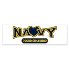 Navy Girlfriend Bumper Sticker