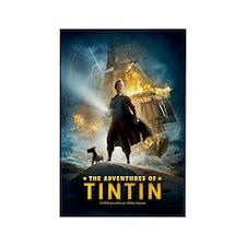 Tintin Movie Rectangle Magnet