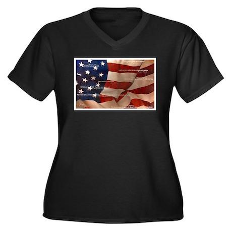 Romney/Ryan 2012 Women's Plus Size V-Neck Dark T-S