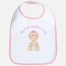 Baby 1st Valentine Bib