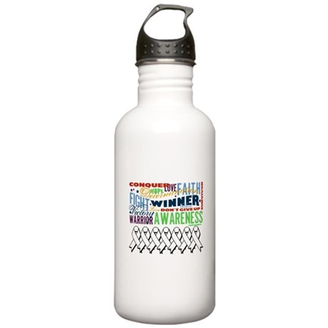 Empowering Lung Cancer Stainless Water Bottle 1.0L