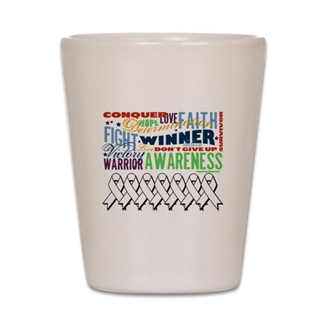 Empowering Lung Cancer Shot Glass
