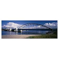 Bridge across a river, Denmark Poster