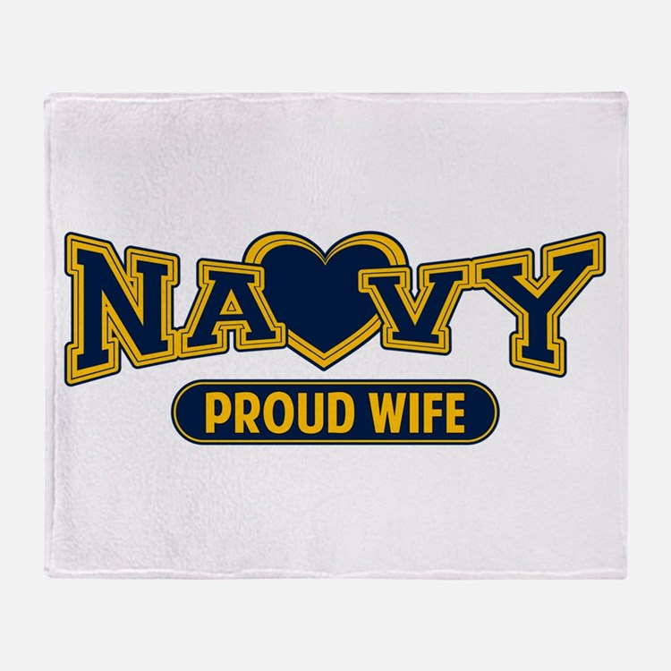 Navy Wife Throw Blanket