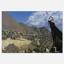 View of an open mine, Comstock Mine, Virginia City