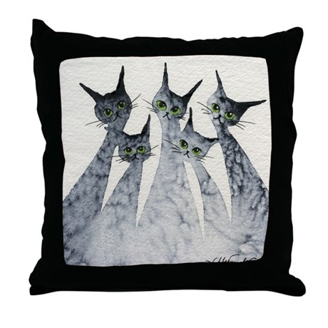 Logan Stray Cats Pillow
