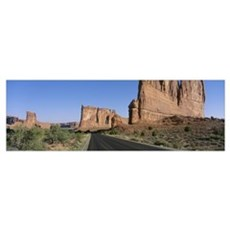 Road Through Arches National Park UT Poster