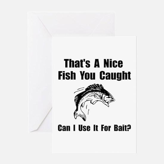 Fish Bait Greeting Card