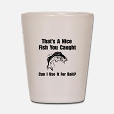 Fish Bait Shot Glass