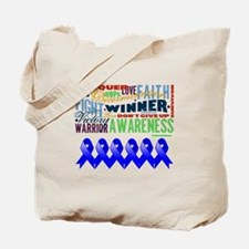 Empowering Colon Cancer Tote Bag