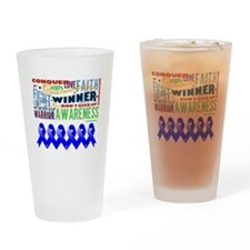 Empowering Colon Cancer Drinking Glass