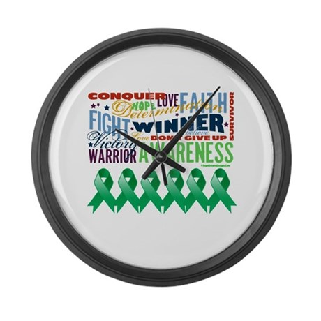 Empowering Liver Cancer Large Wall Clock